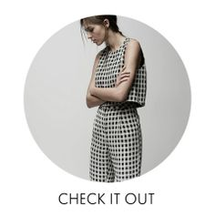 CHECK IT OUT - It's hip to be square this spring in our new graphic gingham pieces.