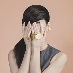 "Name: JØOØLRY — The Big 0 Ring  • Designer: Project J • Description: ""Good to know: 24K gold-plated brass. Sizing: Small = 49mm., Medium = 55mm., Large = 59mm."" — ""The Big 0 Ring"", Project J (Retrieved: 19 July, 2014)"
