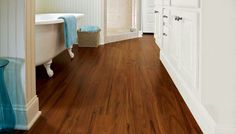 wood look vynal flooring | Exotic Fruitwood Vinyl by Armstrong | Espresso Color (16175)