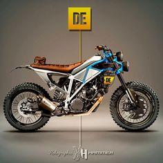Derestricted KTM 1190 Adventure by Holographic Hammer, motorcycle, cafe race, moto Motorcycle Design, Bike Design, Scrambler, Holographic Hammer, Motocross, Motos Ktm, Ktm Adventure, Side Car, Offroader