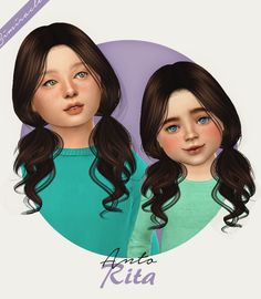 simiracle Anto Rita - The Sims 4 Sims 4 Toddler Clothes, Sims 4 Cc Kids Clothing, Sims 4 Mods Clothes, Children Clothing, The Sims 4 Kids, Sims 4 Children, The Sims 4 Cabelos, Pelo Sims, Sims 4 Cc Packs