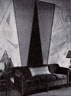 1926 - Early Art Deco Wall Treatment by American Vintage Home, via Flickr