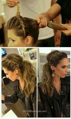 Superb Diffrent vetsion of a braided ponytail The post Diffrent vetsion of a braided ponytail… appeared first on 99Haircuts .
