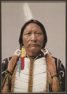 Photochrome of Buckskin Charley Southern Ute Indian Chef Ignacio Colorado