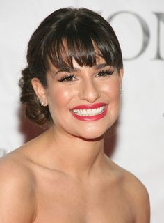 Google Image Result for http://images.beautyriot.com/photos/lea-michele-bangs-updo-chic-brunette.jpg