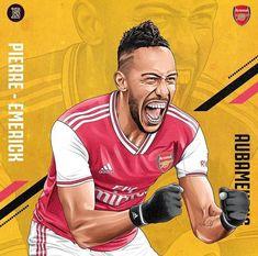 Soccer Art, Football Art, Arsenal Football, Football Players, Arsenal Fc Players, Aubameyang Arsenal, Logo Arsenal, Manchester City, Manchester United