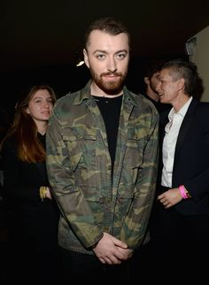 Pin for Later: Saint Laurent kriegt sie alle: Die Promis strömen zur Fashion Show nach LA Sam Smith