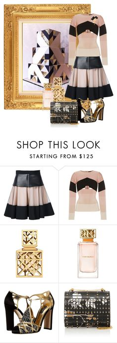 """""""cake!"""" by art-gives-me-life ❤ liked on Polyvore featuring David Koma, Tory Burch, Dolce&Gabbana, Elie Saab, Marni, contestentry, davidkoma and MastersOfMimicry"""