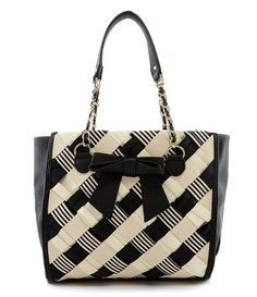 Betsey Johnson Weave On Plaid Print Tote | Dillards.com