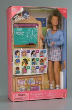 """I love you"" ASL Sign Language Teacher Barbie Doll"