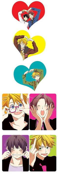 Hetalia America , Italy , Japan and England