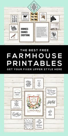 I would NEVER consider myself Farmhouse, and yet... // 40+ Free Farmhouse Printables for that Fixer Upper Vibe • Little Gold Pixel