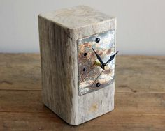 """""""small nautical style driftwood and beach metal mantel clock"""" -  Reclaimed Time - Etsy - 22.11.2015"""