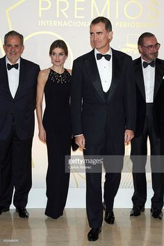 King Felipe VI of Spain and Queen Letizia of Spain attends the 'Mariano De Cavia' awards on December 10, 2015 in Madrid, Spain.