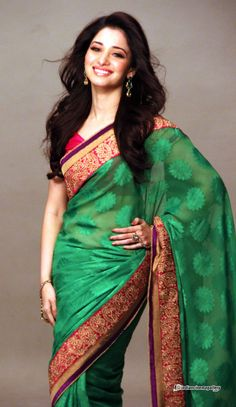 Great green saree