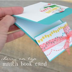 Stampin' Dolce: Please, with a cherry on top! - Artisan Design Team Blog Hop:  Match Book Card: