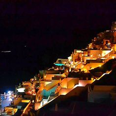 This view never gets old. Wednesday wishes.  We wish we were back in Santorini with this night view! BKTC Tip:  Many of the luxury hotels are cliffside.  Want to treat yourself? Book a cave room.  You will not be disappointed! #bktravelcorner #bktctips #santorini #greece #night #nightlife #lights #horizon #sunset #beautiful #landscape #nature #caves #travel #traveling #luxury #luxurylife #travellushes #tlpicks #tripadvisor #scenery #potd #passionpassport #workhardplayhard #nighttime…