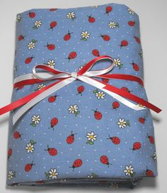 Crib or Toddler Bed Fitted Sheet Ladybugs and by KidsSheets