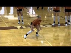 "The Texas Volleyball defensive specialists get a workout in a practice drill dubbed ""Texas Tough."""