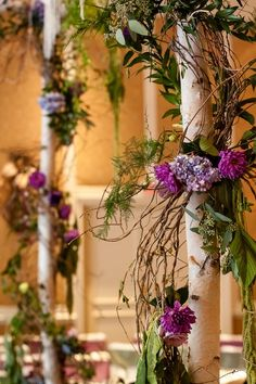 floral design, enchanted florist, dove photography, indoor wedding garden, @Caprice Palmer | The Enchanted Florist, purple wedding florals, #nashvillewedding,