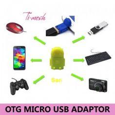 Ti-mesh Micro USB Robot OTG Adaptör - Sarı