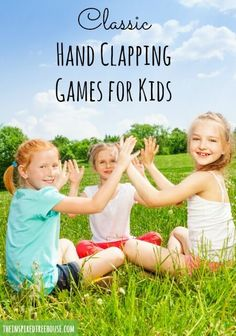 Kids love them today too! Awesome videos of old-school hand-clapping games for kids! Music Games For Kids, Group Games For Kids, Outdoor Games For Kids, Games For Teens, Hand Games For Kids, Children Music, Abc Games, Kids Fun, Kids Boys