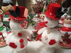 Creative Breathing: Christmas.felt snowmen