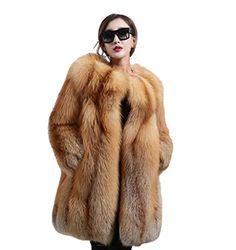 Red Fox Fur Vertical Stripe Coat Fur Coat Fashion, Fashion Fall, Long Overcoat, Fur Clothing, Thick Sweaters, Wrap Coat, Fox Fur Coat, Coats For Women, One Piece
