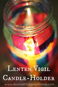 Lenten Vigil Candle Holder - Do Small Things with Love