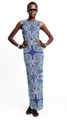 MARA HOFFMAN CUTOUT COLUMN DRESS MOLA BLUE $268- CALL SPLASH TO ORDER 314-721-6442