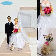 caraarteembiscuit💗 #noivinhospersonalizados 💗#biscuit #biscuitpersonalizado #noivinhos #caketopper #weddinginvitation #vestidodenoiva #cat #wedding #caraarteembiscuit #gato #wedding #weddings #weddingstyle #weddingcake #bolodecasamento #enfeitedebolo #vestidonoiva #noiva #noivos #enfermagem #casamento #casando #casacomigo #love #dream 😻 orçamento: caraarteembiscuit@yahoo.com.br, ou envie uma mensagem inbox na página https://facebook.com/caraarteembiscuit