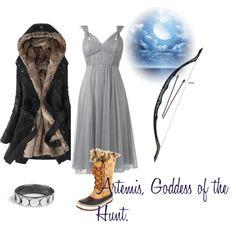 """Artemis, Goddess of the Hunt"" by dana-kira on Polyvore"