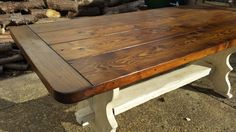 Handmade 6ft  Rustic Pine Trestle Table Reclaimed