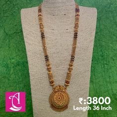 1 Gram Gold Jewellery, Gold Jewellery Design, Temple Jewellery, Gold Mangalsutra Designs, Gold Earrings Designs, Necklace Designs, Gold Jewelry Simple, Jewelry Drawer, Jewlery