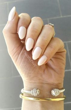 This is OPI Funny Bunny short almond shaped nails #EnamelEnvy