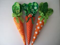Easter Carrots accessories basket filler by JanetR on Etsy https://www.etsy.com/listing/121522719/easter-carrots-accessories-basket-filler