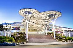 main entrance mall - Google Search Futuristic Architecture, Landscape Architecture, Landscape Design, Architecture Design, Entrance Design, Main Entrance, Retail Facade, Landscape Structure, Mall Design