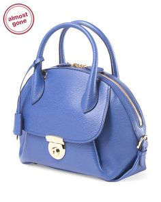 Made In Italy Leather Medium Fiamma Satchels