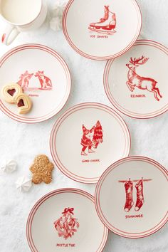 Holiday Icon Canape Plate