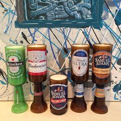 Candle making early this morning. Finishing these #beauties up today and getting them mailed out #beer #candles #handmade #christmasgifts #mangift #shopetsy #etsysellersofinstagram #budweiser #samadams #michelobultra