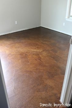 Diy stained brown paper floor awesomeness under 30 do it diy stained brown paper floor awesomeness under 30 do it yourself hardwoodlaminate floor alternative diy and crafts brown and brown paper solutioingenieria Images