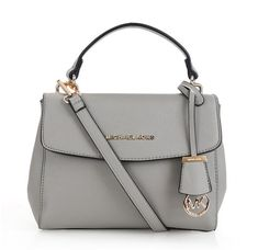 Michael Kors Saffiano Leather Charm Satchel Grey