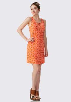 Cato Fashions Lacey Medallion Swing Dress-Plus #CatoFashions
