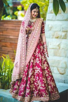 Find top trending and unique Sabyasachi Lehenga Designs for your dream bridal look. Best bridal lehenga designs by Sabyasachi for 2020 weddings. Designer Bridal Lehenga, Pink Bridal Lehenga, Pink Lehenga, Indian Bridal Lehenga, Latest Bridal Lehenga Designs, Anarkali Bridal, Indian Wedding Wear, Indian Bridal Outfits, Indian Dresses