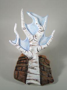 Jamie E. Hatch. Terracotta aspen wall hanging.
