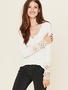 """I recently got this long-sleeve top and love it! I've received many compliments. It's the """"Kombucha Cuff Thermal"""" from Free People."""