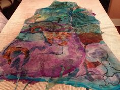 Studio 907: Making a Nuno Felted Seamless Reversible Vest Using a Resist.