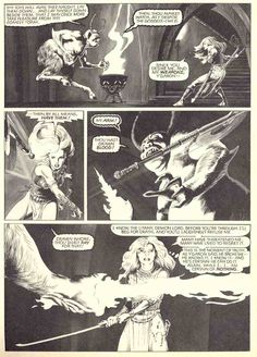 """From Epic Illustrated # 11: Marada, the She-Wolf in """"The Shattered Sword"""" (Part 2 of 2) by John Bolton"""