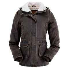 Outback Trading Jacket Womens Woodbury Removable Hood Brown 2864 from Stand Up Ranchers at SHOP.COM