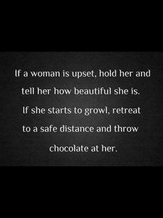 Women's love...no need...for chocolate